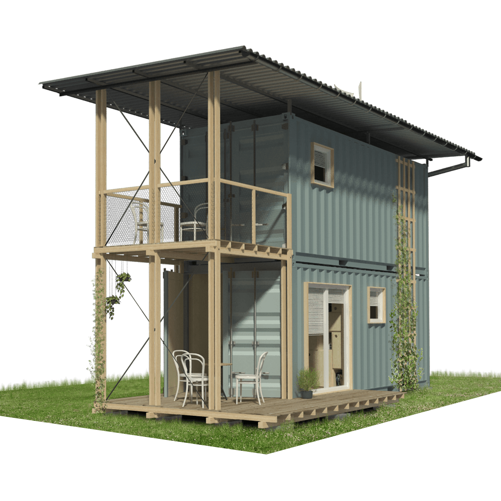 2 Story Shipping Container Home Plans