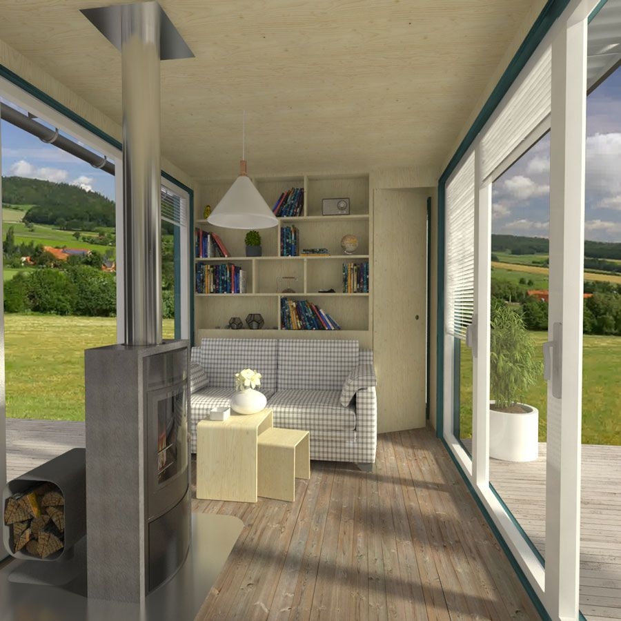 Container Home Interior: 40ft Shipping Container House Floor Plans With 2 Bedrooms