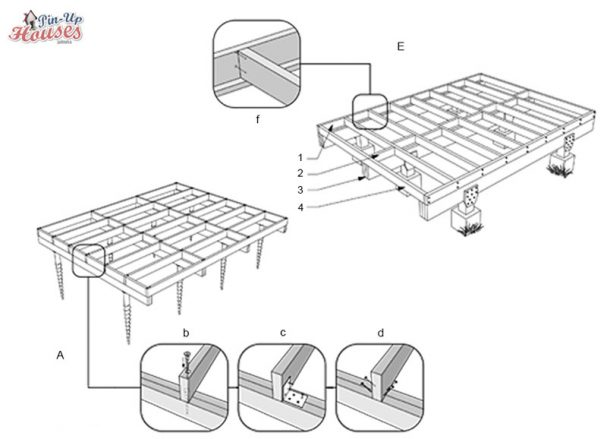 timber floor structure for small house timber framework