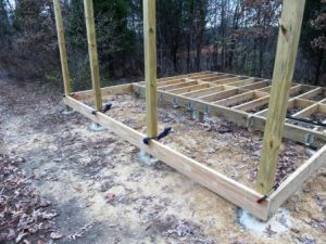 the front porch rim joists