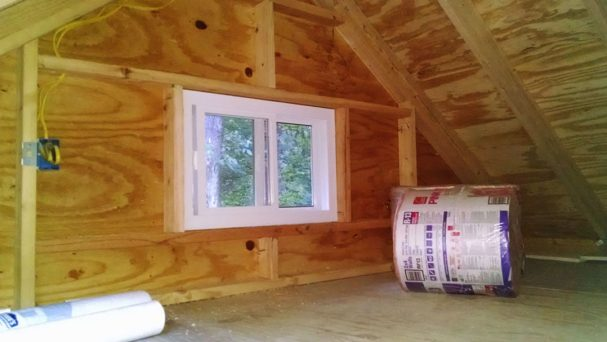 loft construction window in a gable end