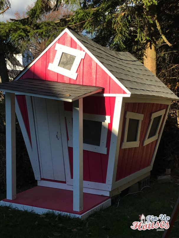 easy to build wooden kids playhouse plans