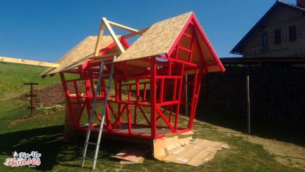 kids playhouse roof framework