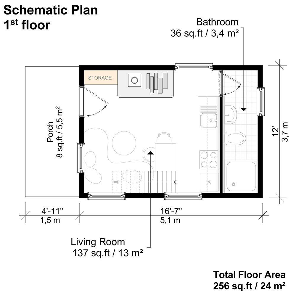1 Bedroom Cottage Plans Shirley