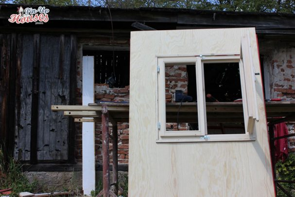 DIY houses wall panel with window pin-up houses